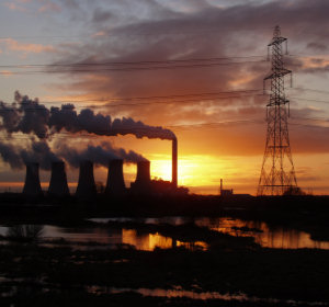 Emissions from a coal fired power station in England