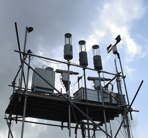 Cloud sampling instruments installed for the hill cloud component of ACE-ASIA on Korea