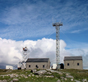 The Mace Head atmospheric observatory on the west coast of Ireland pictured during the NAMBLEX field project involving the Centre for Atmospheric Science