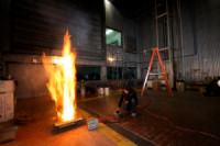 Laboratory fire experiment