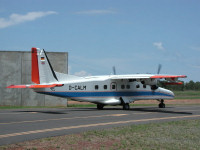 The Dornier aircraft before the flight to Alice Springs