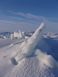 Arctic Sea Ice on Hudson Bay, near Kuujjuarapik