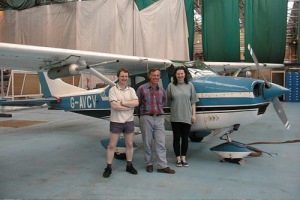 The Manchester PUMA team pictured with the Cessna aircraft