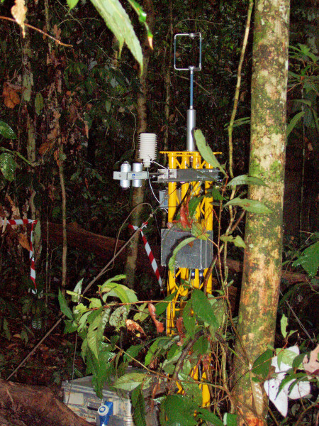 Ground level flux mast and instruments