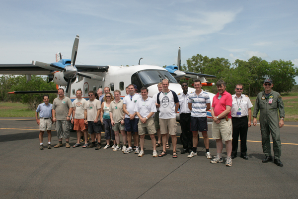 The Dornier aircraft, and most of the team involved in the ACTIVE project.