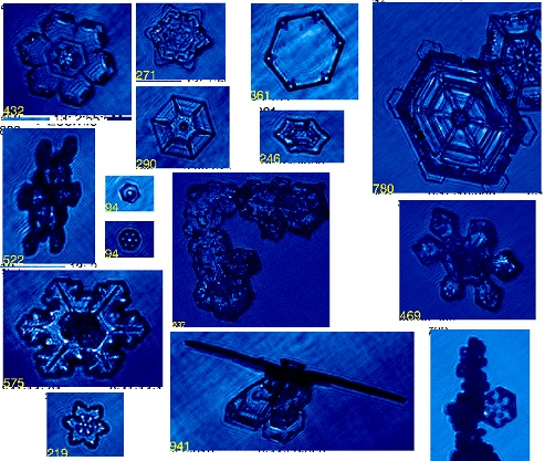 Ice crystal images