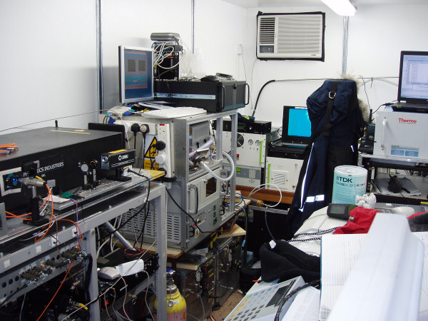 DMPS and other instruments in a measurement container during the COBRA project