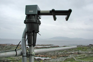 The Airborne Droplet Analyser probe head mounted on top of a 10m tower during the NAMBLEX project at Mace Head, Co. Galway, Ireland. During this project the ADA was used to measure large aerosol particles.