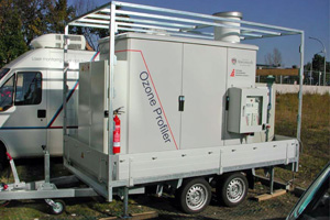 Mobile boundary-layer ozone/aerosol lidar, using five ultraviolet wavelengths to measure aerosol and ozone profiles.