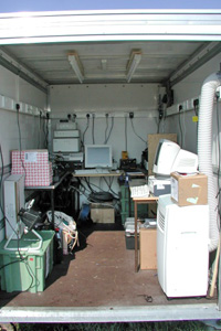 Internal view of the tow-a-van lab