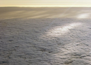 Aerial view of marine stratocumulus clouds